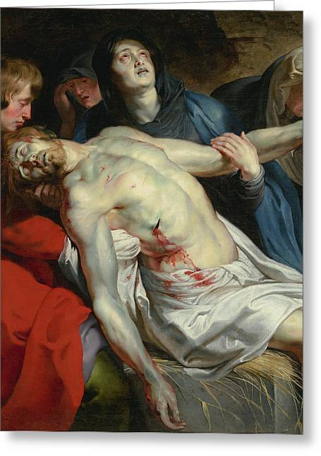 The Entombment Peter Paul Rubens, Flemish Greeting Card by Litz Collection