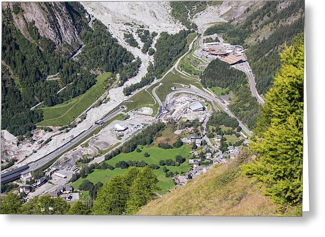 The Entrance To The Mont Blanc Tunnel Greeting Card