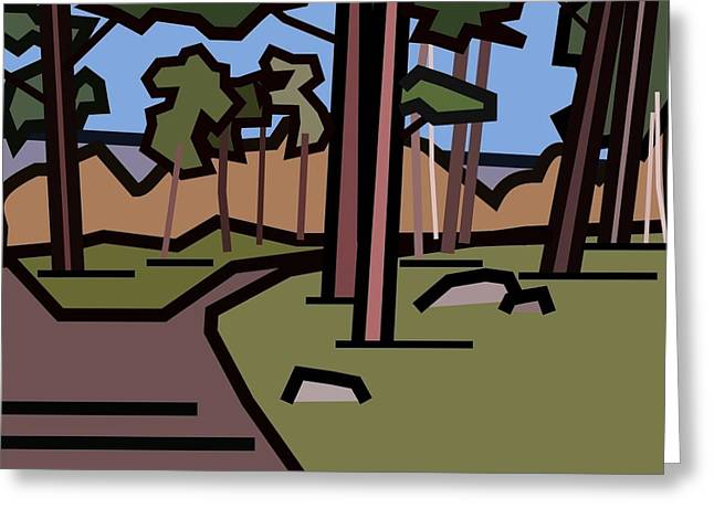 The Entrance To The Wood. Greeting Card by Kenneth North