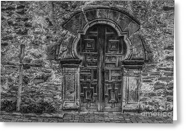 The Mission Door Greeting Card