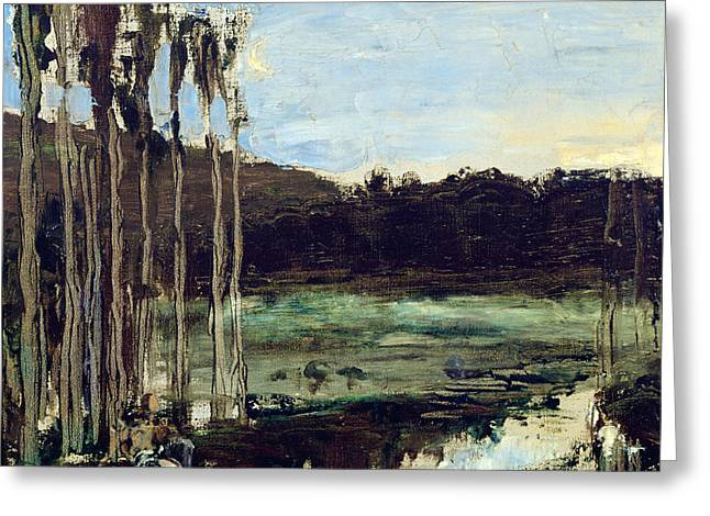 The Environs Of Etampes Greeting Card by Gustave Moreau