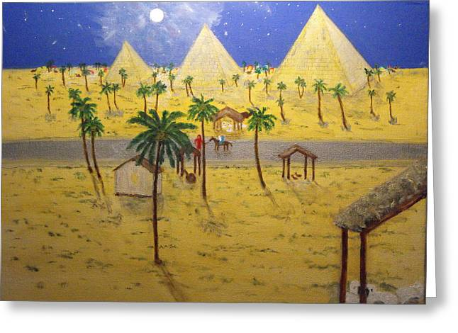 The Escape To Egypt Greeting Card by Larry Farris