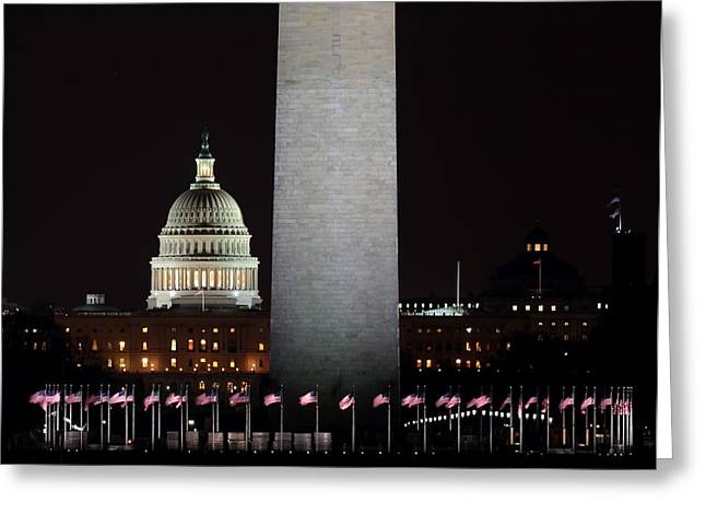 The Essence Of Washington At Night Greeting Card