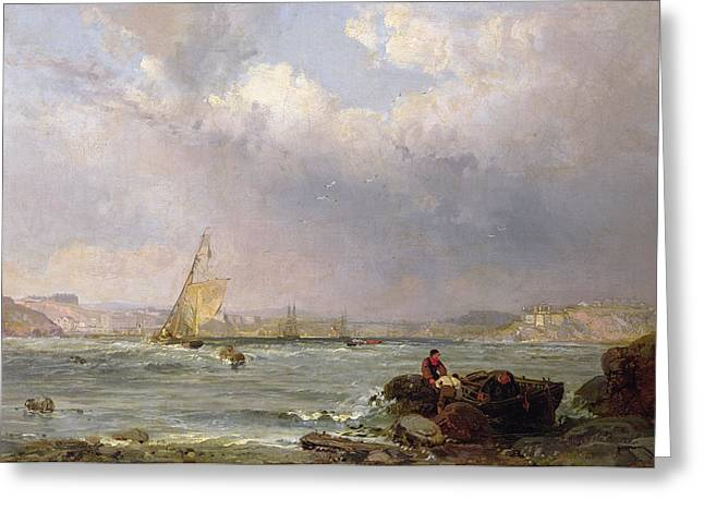The Estuary  Greeting Card by Samuel Phillips Jackson