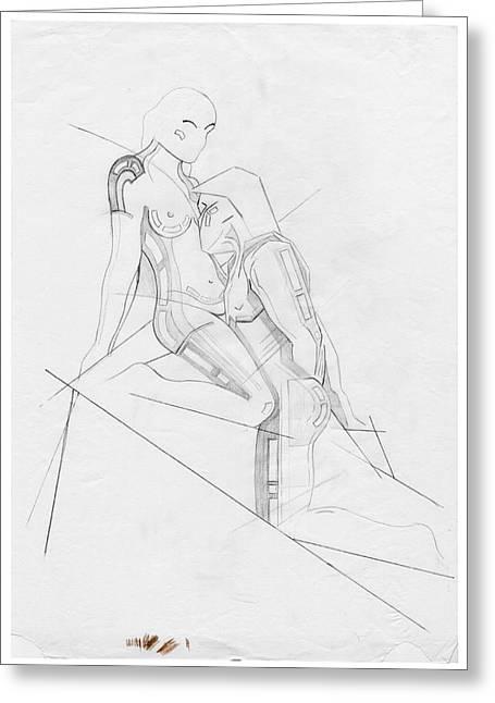 The Eternal Idol - Homage Rodin Greeting Card