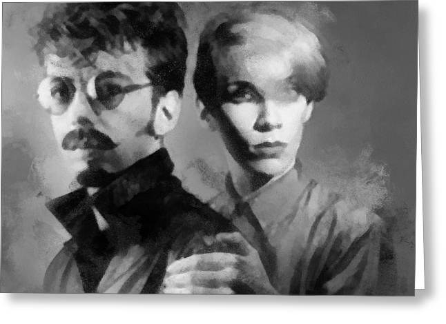 The Eurythmics Greeting Card by Paulette B Wright
