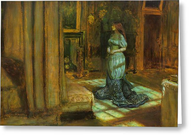 The Eve Of St Agnes Greeting Card by John Everett Millais