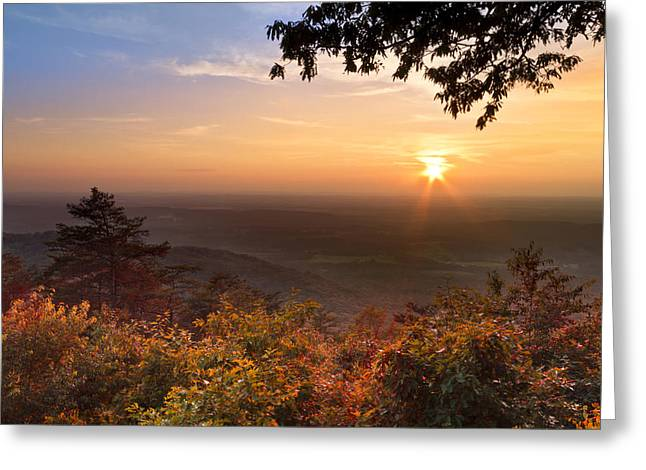 The Evening Star Greeting Card by Debra and Dave Vanderlaan