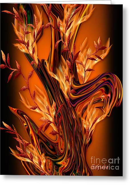 The Everlasting  Fruitful Tree - Optimistic Art By Giada Rossi Greeting Card