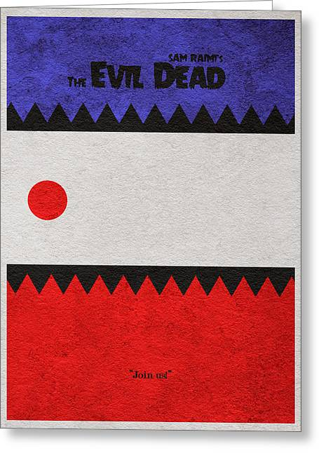 The Evil Dead Greeting Card by Ayse Deniz