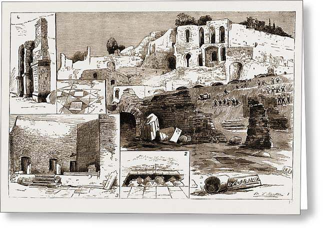 The Excavations In Rome Discovery Of The House Greeting Card