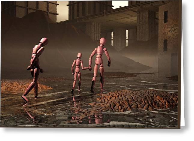 Greeting Card featuring the digital art The Exiles Sojourn by John Alexander