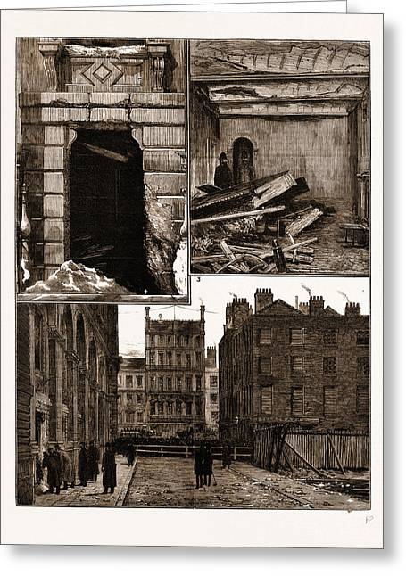 The Explosion At The Office Of The Local Government Board Greeting Card by Litz Collection