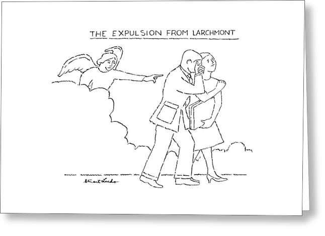 The Expulsion From Larchmont Greeting Card