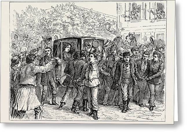 The Expulsion Of Queen Natalie From Serbia The Students Greeting Card by English School