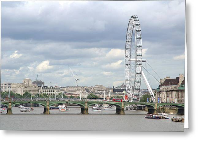 Greeting Card featuring the photograph The Eye Of London by Keith Armstrong