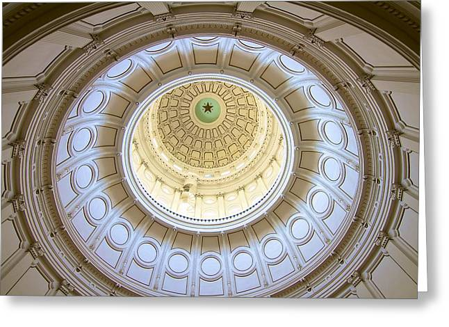 The Eye Of Texas Greeting Card by John Babis