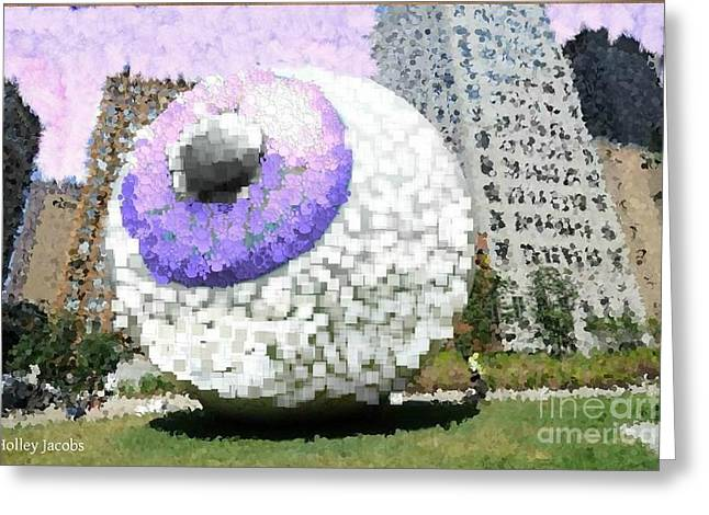The Eyes 1 Greeting Card by Holley Jacobs