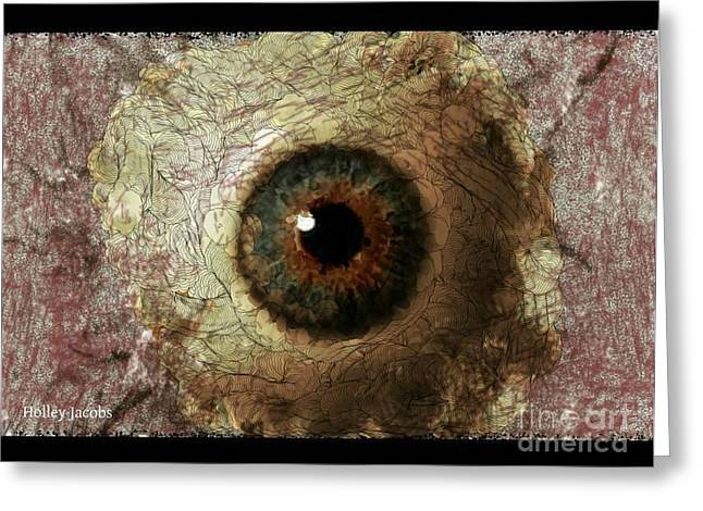 The Eyes 12 Greeting Card by Holley Jacobs