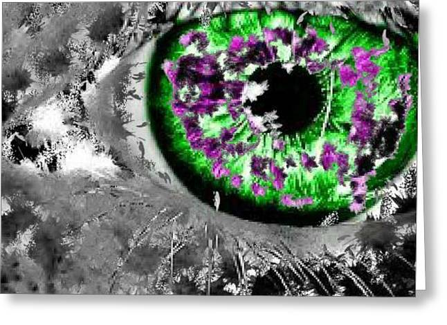 The Eyes 13 Greeting Card by Holley Jacobs