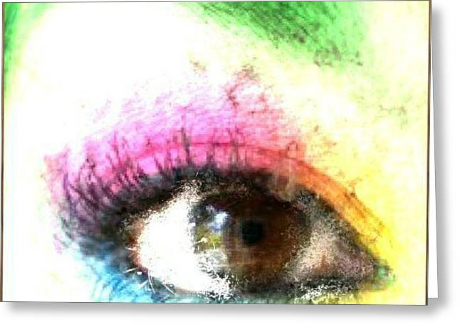 The Eyes 3 Greeting Card by Holley Jacobs