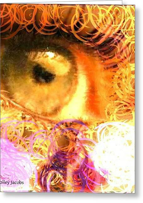 The Eyes 4 Greeting Card by Holley Jacobs