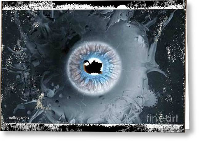 The Eyes 7 Greeting Card by Holley Jacobs