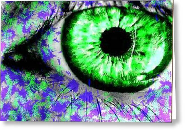 The Eyes 8 Greeting Card by Holley Jacobs