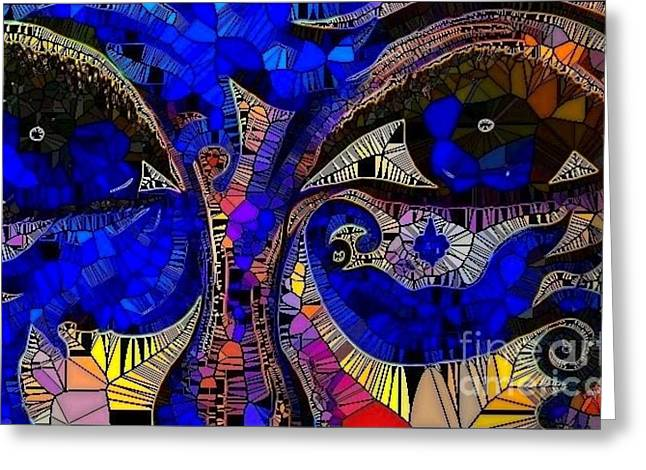 The Eyes Have It. 1 Mosaic Greeting Card by Saundra Myles