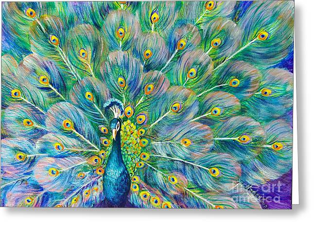 Greeting Card featuring the painting The Eyes Have It by Nancy Cupp