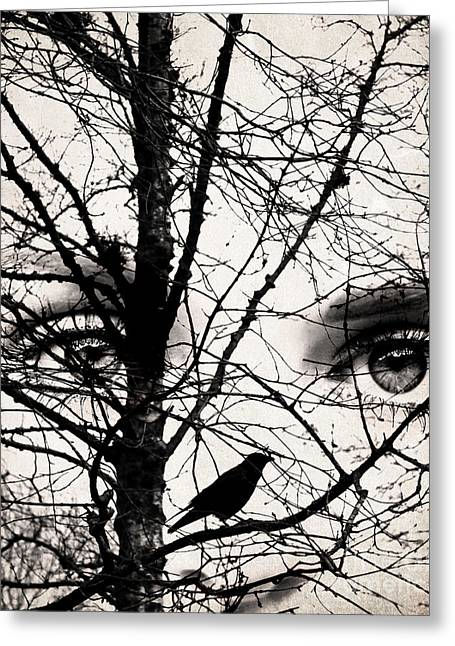 The Eyes Of The Raven Greeting Card