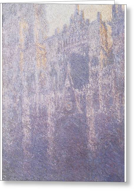 The Facade Morning Mist Greeting Card by Claude Monet