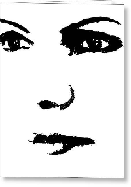 The Face Greeting Card by Cherise Foster