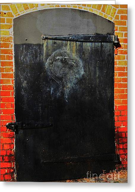 The Face In The Door 2 Greeting Card by Marcus Dagan