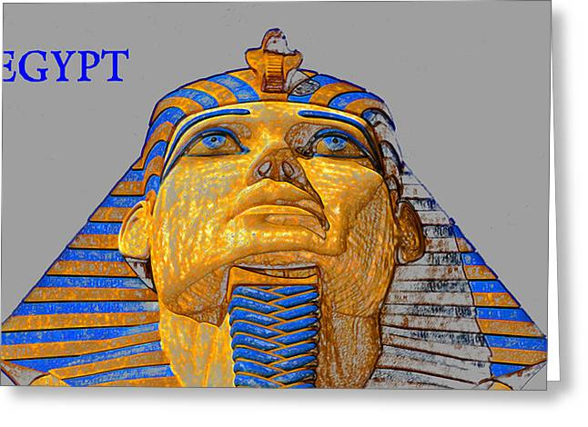 The Face Of Egypt Travel Work One Greeting Card by David Lee Thompson