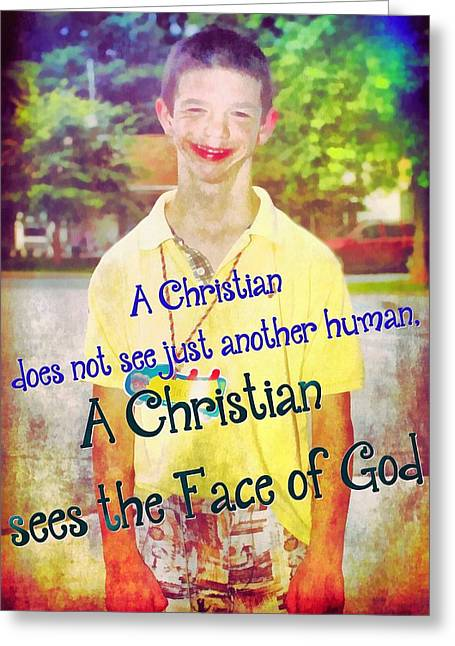 The Face Of God Greeting Card