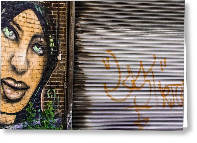 The Face Of Graffiti Greeting Card