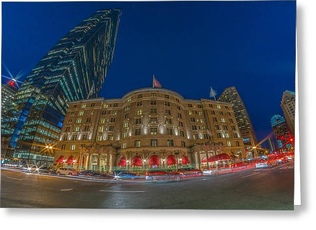 The Fairmont Copley Hotel Greeting Card