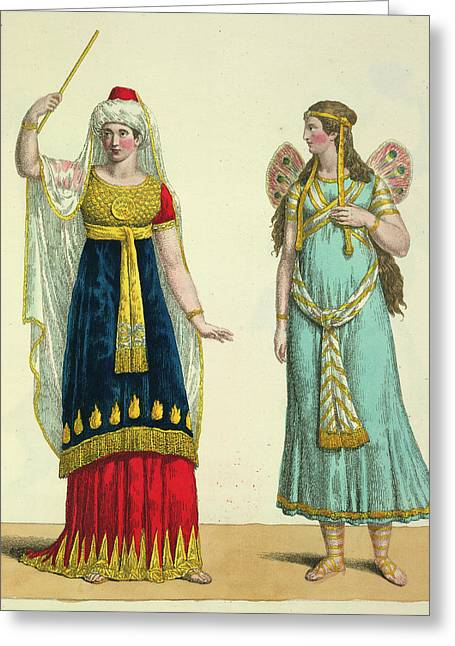 The Fairy Namuna And The Genie Greeting Card by British Library