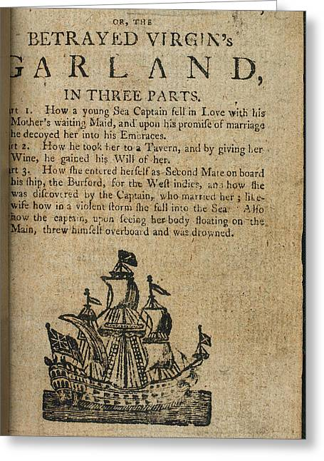 The Faithless Sea Captain Greeting Card by British Library