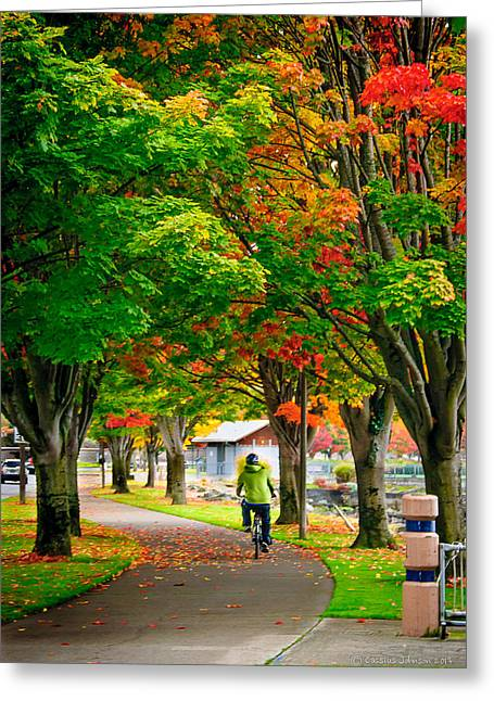 The Fall Bike Ride Greeting Card
