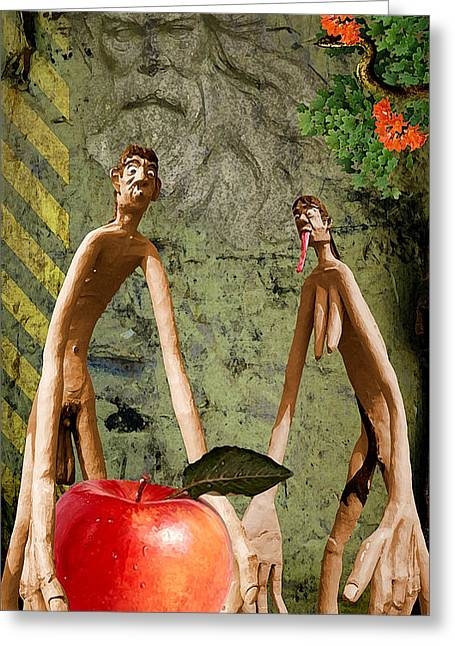The Fall Of Mankind Greeting Card by Harald Fischer