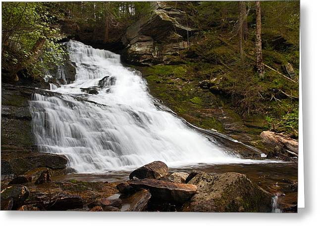 The Falls At Deans Ravine Greeting Card by Mike Farslow