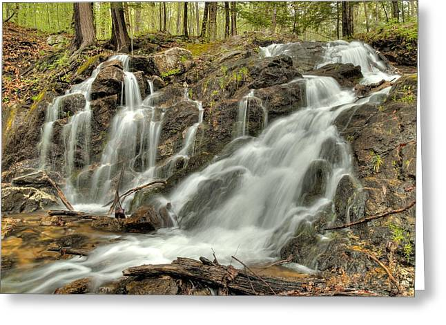 Greeting Card featuring the photograph The Falls At Mackenzie King Estate by Rob Huntley