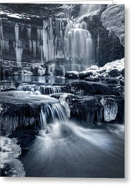 The Falls At Scaleber Force Greeting Card by Chris Frost