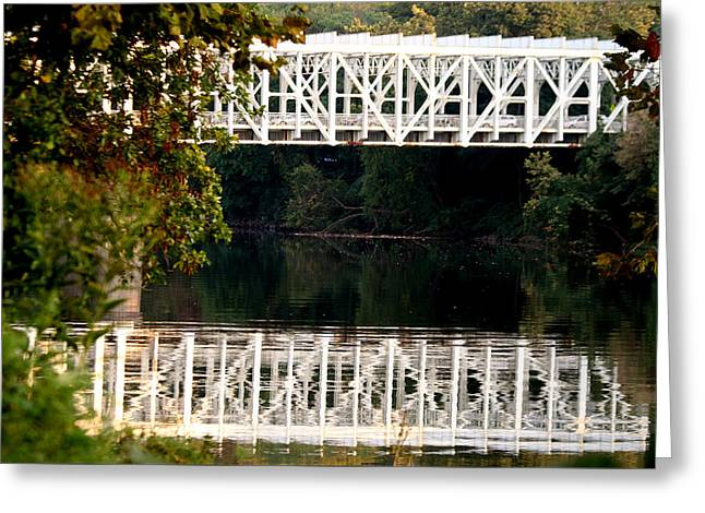 Greeting Card featuring the photograph The Falls Bridge by Christopher Woods