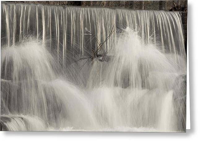 The Falls Greeting Card by Cindy Rubin
