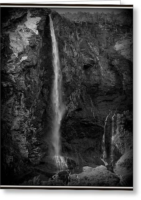 The Falls Greeting Card by David Kovac