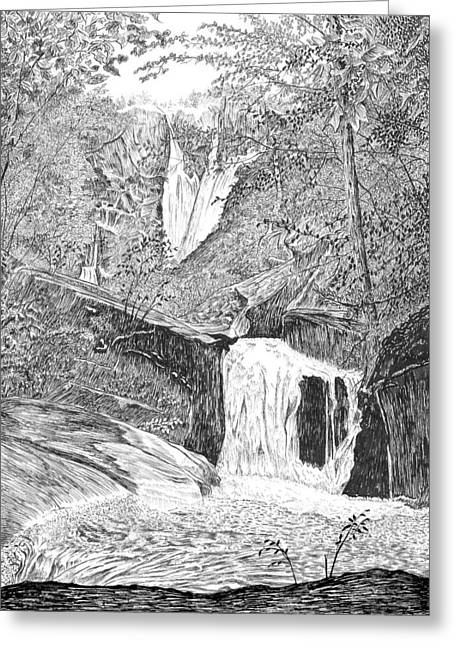 The Falls II Greeting Card
