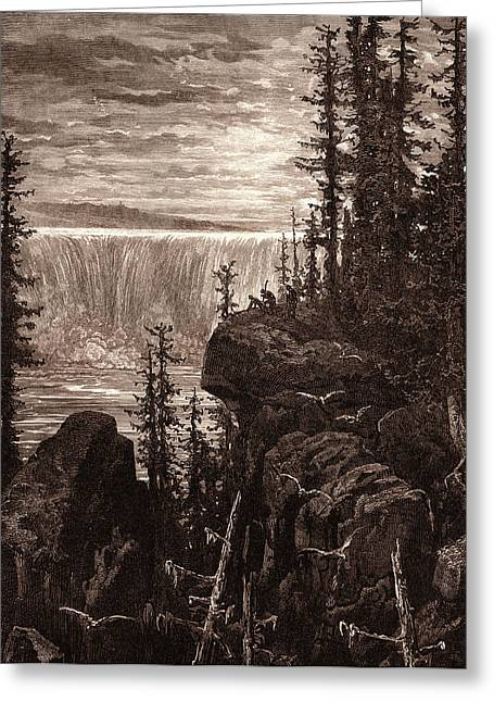 The Falls Of Niagara, By Gustave DorÉ. Dore Greeting Card